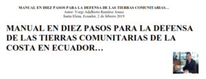 manual defensa de las tierras